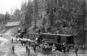 Silverton Railroad passengers, courtesy Denver Public Library