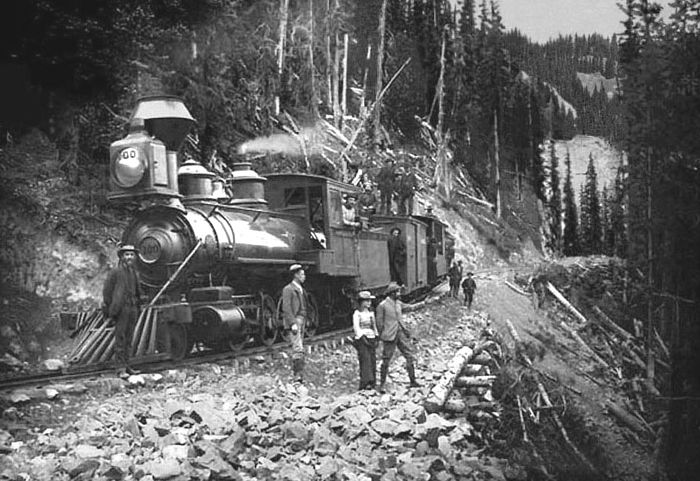 Silverton Railroad, Red Mountain Pass, 1888