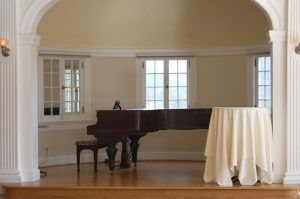 Piano on the Stanley Hotel Ballroom by Kathy Weiser-Alexander.