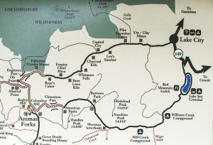 Alpine Loop Back Country Byway Map