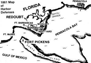 Pensacola Bay Harbor Defenses, 1861