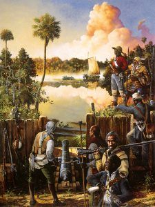 Battle of Negro Fort, Florida by Jackson Walker