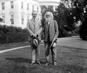 President Calvin Coolidge & Ezra Meeker, 1924