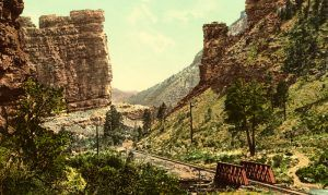 Castle Gate, Price Canyon, Utah, by Detroit Publishing, 1898