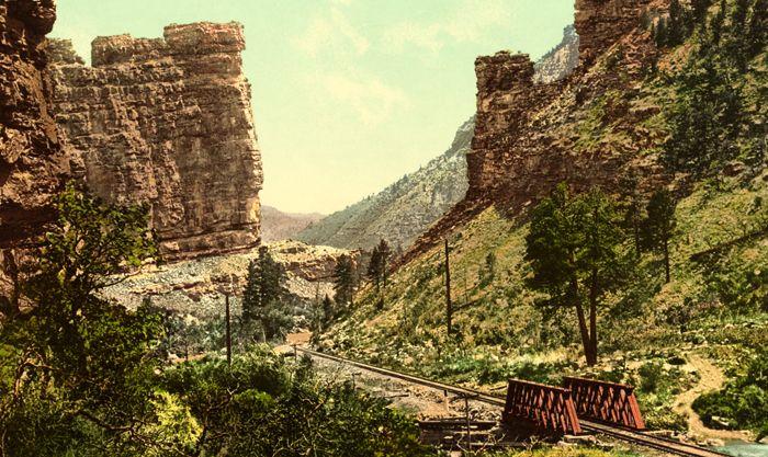 Castle Gate, Price Canyon, Utah, by Detroit Publishing, 1898