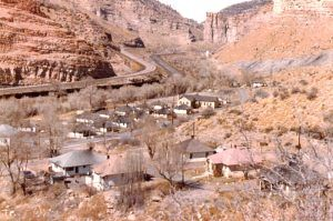Castle Gate, Utah in the 1970s, courtesy Genes Family Tree
