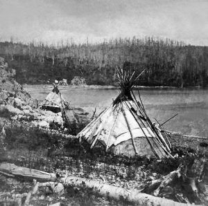Chippewa lodges by B.F. Childs