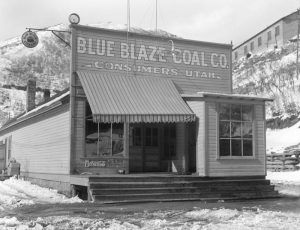 Company Store in Consumers, Utah by Dorthea Lange, 1936.