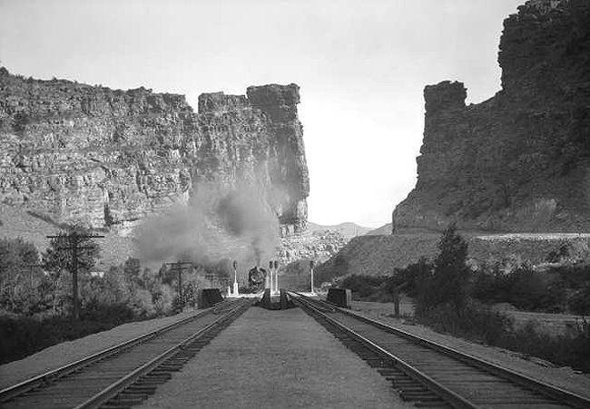 Denver and Rio Grande Western Railroad at Castle Gate, Utah