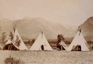 Salish Tipis by Edward Boos, 1907