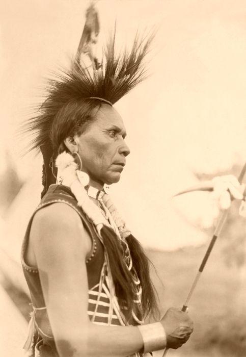 Salish Warrior by Edward Boos, 1907