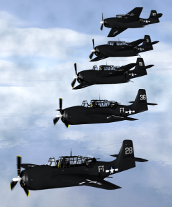Artist's depiction of the five Grumman TBM Avengers that disappeared, courtesy Wikipedia