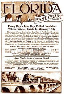Florida East Coast Railway advertisement, 1913