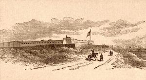 Fort Clinch, Fernandina, Florida about 1885