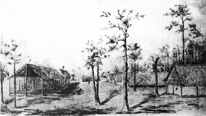 Fort Denaud, Florida by Alexander Webb, early 1856