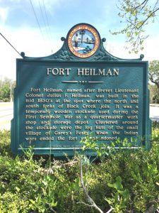 Fort Heileman Historic Marker in Middleburg, Florida