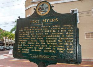 Fort Myers, Florida Historic Marker