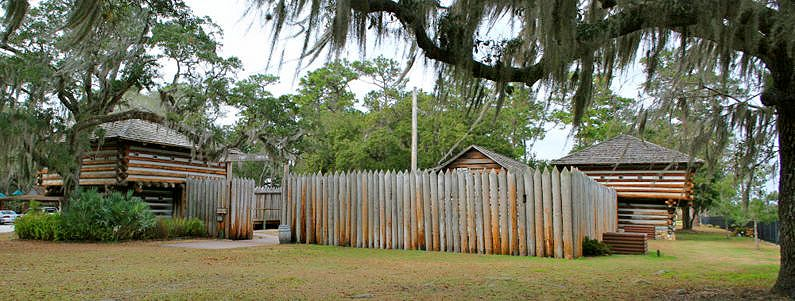 Fort Christmas Replica, Christmas, Florida, courtesy Fort Wiki