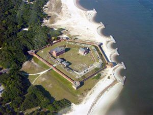 Fort Clinch, Florida Aerial courtesy Wikipedia