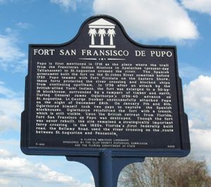 Fort Fransisco De Pupo Historic Marker, Clay County, Florida This marker is located just west of the St Johns River, in Clay County, Florida.