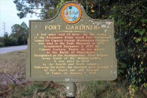 Fort Gardiner, Florida Historic Marker