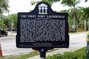 First Fort Lauderdale Historic Marker