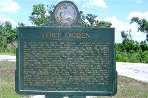 Fort Ogden Historic Marker