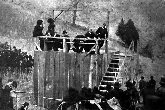 "Hanging of Ellison ""Cottontop"" Mounts"
