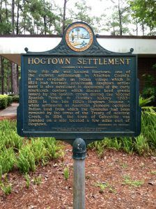 Hogtown, Florida Historic Marker in Gainesville, Florida