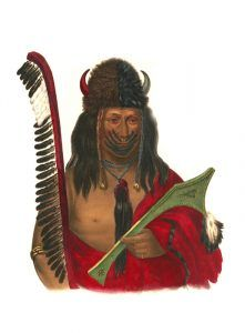 Kish-Ke-Kosh. a Fox Warrior, by John T. Bowen, 1838