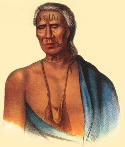 Lapowinsa, Chief of the Lenape, by Gustavus Hesselius, 1735