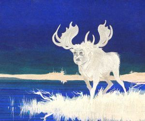Depiction of the Specter Moose of Maine