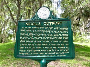 Nicolls Outpost Historic Marker in Chattahoochee, Florida