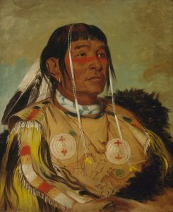 Ojibwe Chief Sha-co-pay by George Catlin, 1832