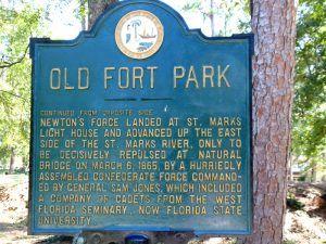 Old Fort Park Historic Marker, Talahassee, Florida