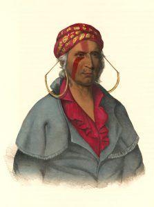 Payta-Kootha. Shawnee Warrior by John T. Bowen, 1838