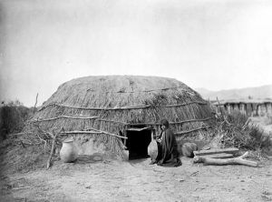 Pima Indian Home, by Edward S. Curtis, 1907