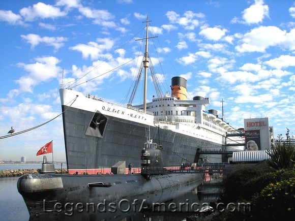 The Queen Mary at Long Beach, CA. Photo by Kathy Weiser-Alexander.