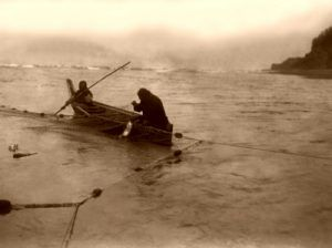 Quinault Indians Fishing, Edward S. Curtis, 1913