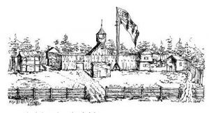 Sketch of Fort King by Lieutenant Sprague, 1837