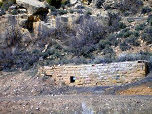 Probable remains of the foundation for the bath house in Rains, Utah Kathy Weiser-Alexander