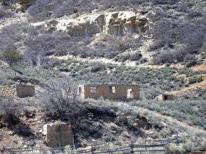 Building remnants in Standardville, Utah, by Kathy Weiser-Alexander