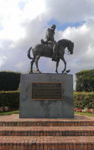 Statue of Major William Lauderdale in Davie, Florida, located southwest of Fort Lauderdale.