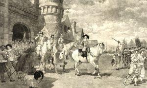 Surrender of New Amersterdam in 1664 by Charles Harris