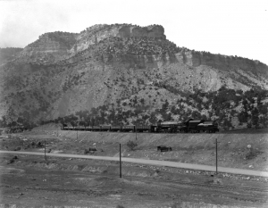Utah Railroad in Spring Canyon, Utah by Harry Shipler, 1927.