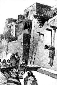 Zuni Indians torturing a witch.