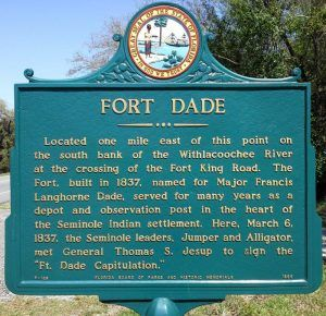 Fort Dade, Florida Historical Marker