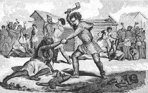 Gnadenhutten Massacre of the Delaware Indians during the American Revolution