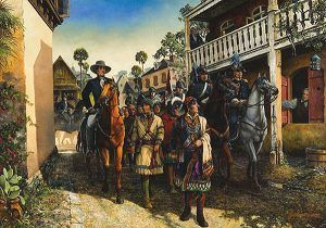 Seminole Chief Osceola captured
