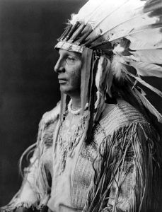 Arikara Chief or Brave White Shield by Edward S. Curtis, 1908